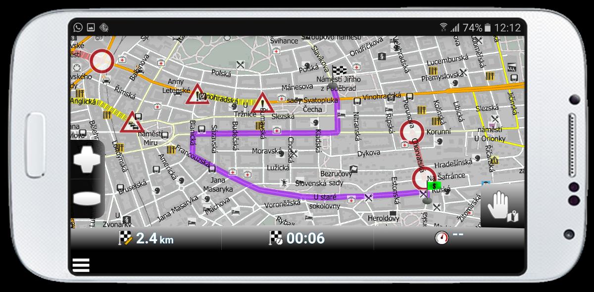 mapfactor Navigator - route optimisation with HD traffic, Prague, Czech Republic