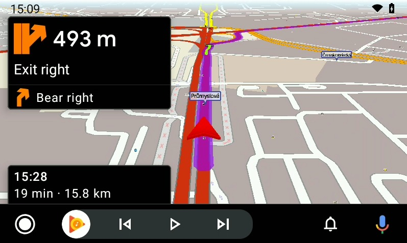 Screenshot MapFactor Navigator for Android Auto