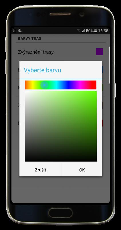 Navigator 2.2 - Vybrat barvu