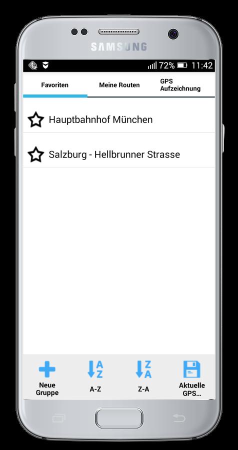 MapFactor Navigator - importierte Favoriten