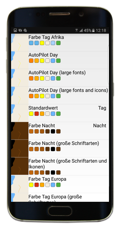 Farbenschema bearbeiten - mapFactor Navigator