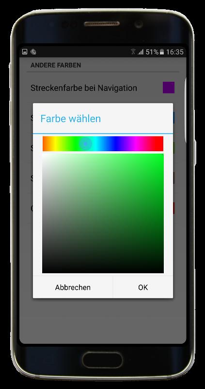 Navigator 2.2 - Farbe wählen
