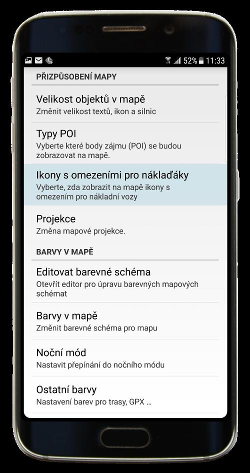 Navigator 3.0 - Přizpůsobení mapy