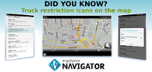 Did you know? 15. Truck restriction icons on the map