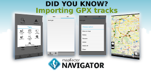 Support - 8. Importing GPX tracks | mapFactor - Navigation ...