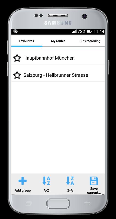 MapFactor Navigator - imported Favourites