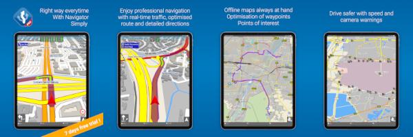 screenshots of Navigator on iPad