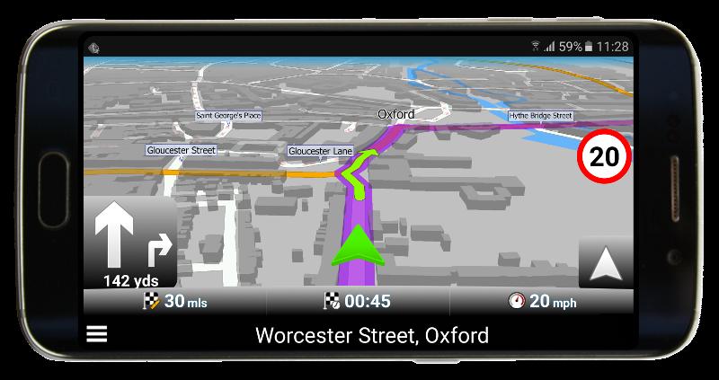 Zelená navigační šipka v Navigatoru 2.2