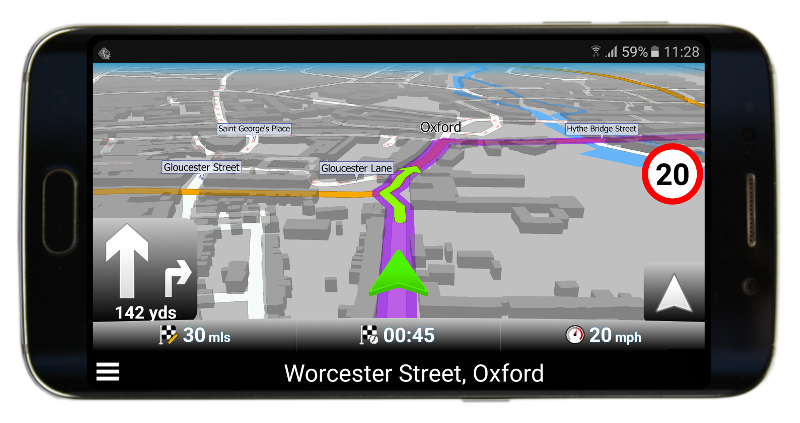 Grüner Navigationspfeil in Navigator 2.2