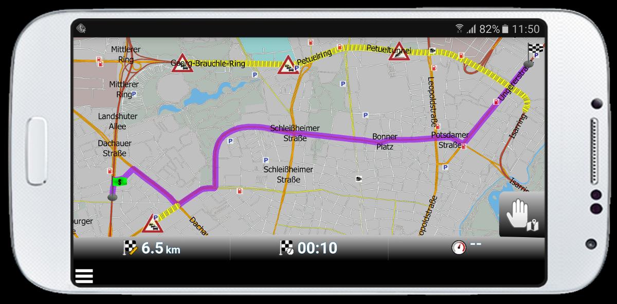 mapfactor Navigator - Routenoptimierung mit HD Traffic in Munchen, Deutschland