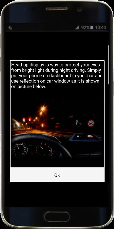 Head-up Display information