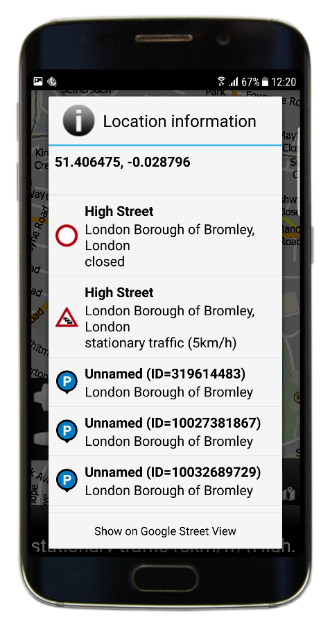 Navigator 3.1 Info - GPS coordinates and HD Traffic info