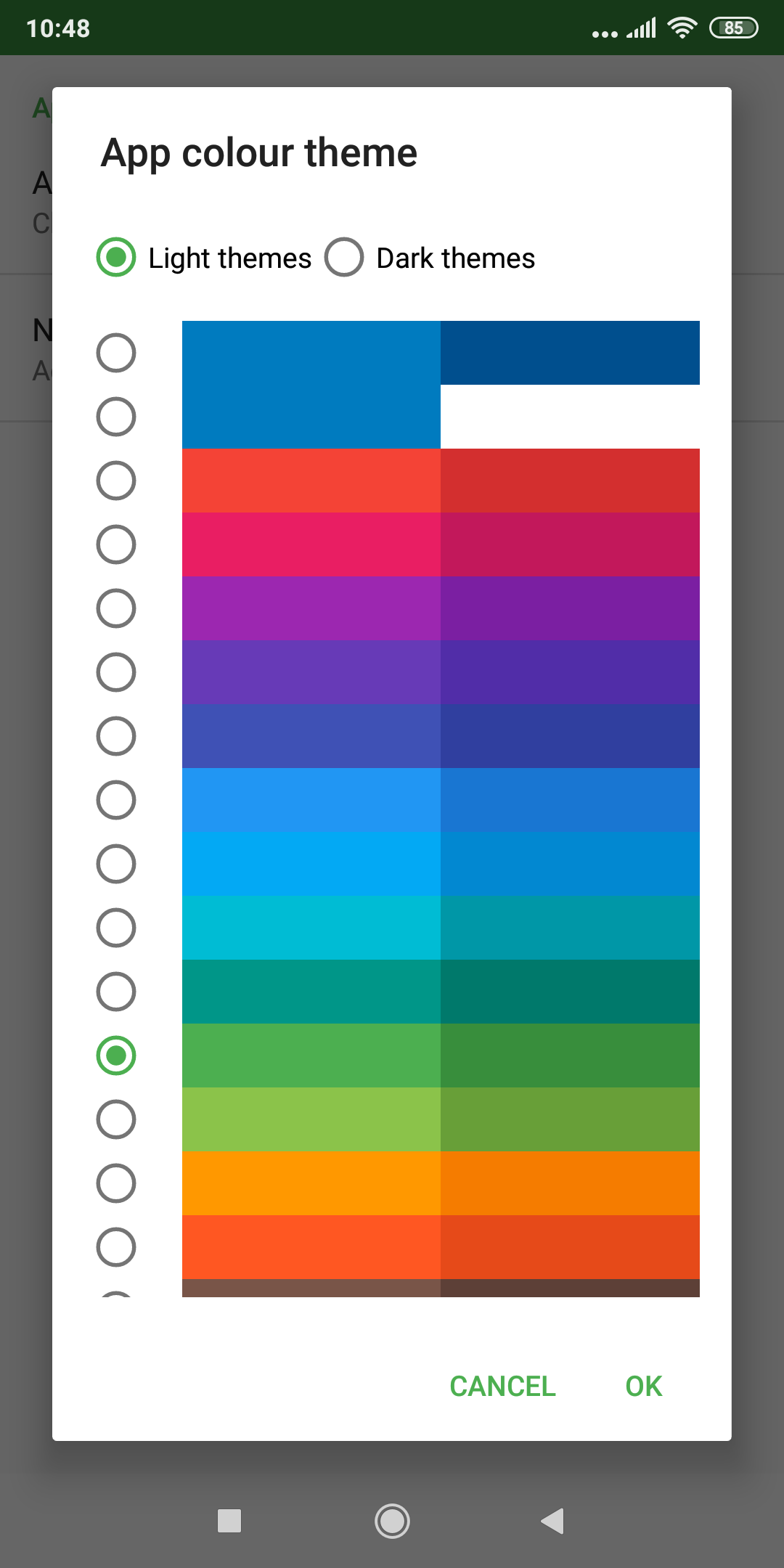 mapFactor Navigator 5.0 - App colour themes