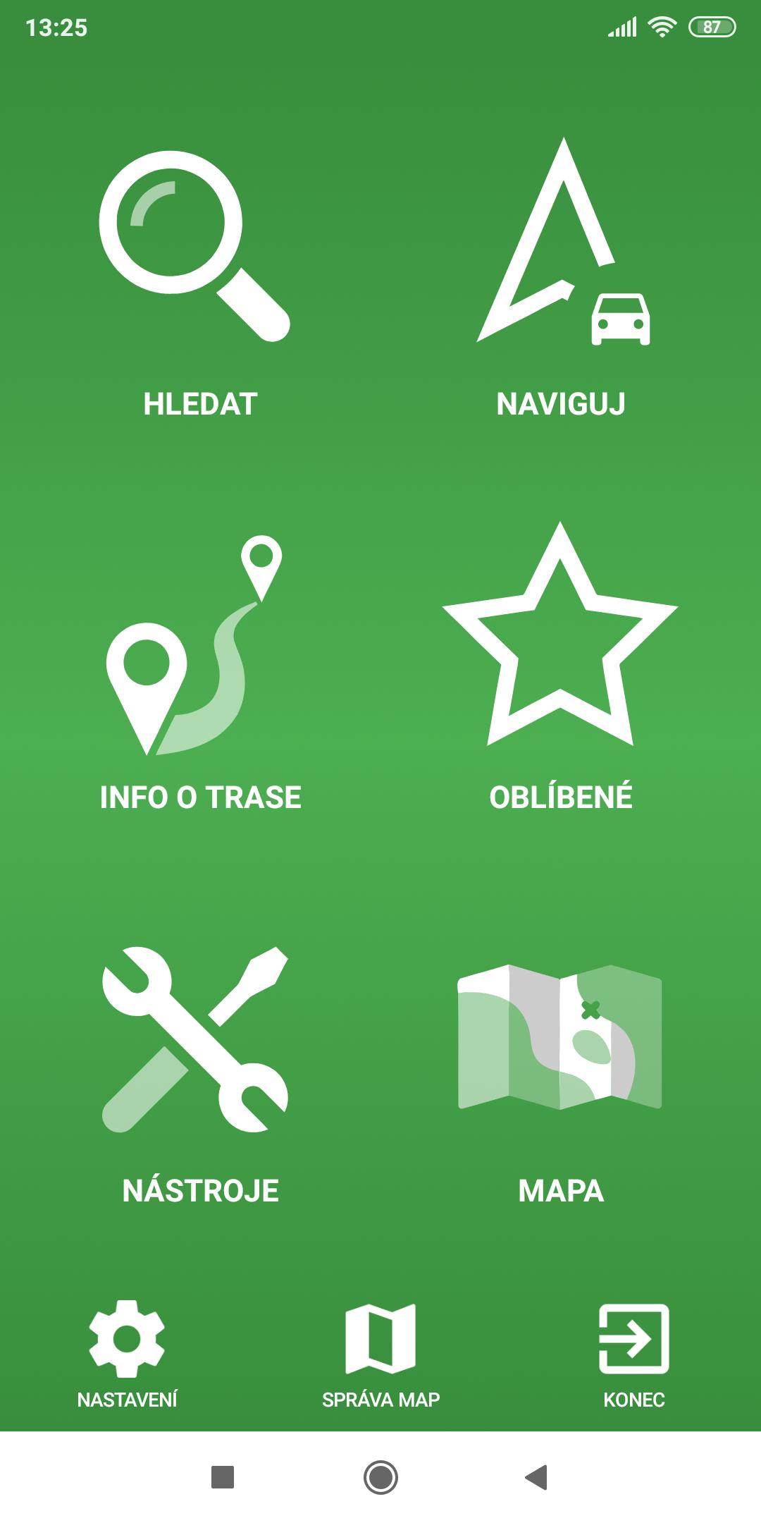 mapFactor Navigator 5.0 - Menu - zelené (premium)