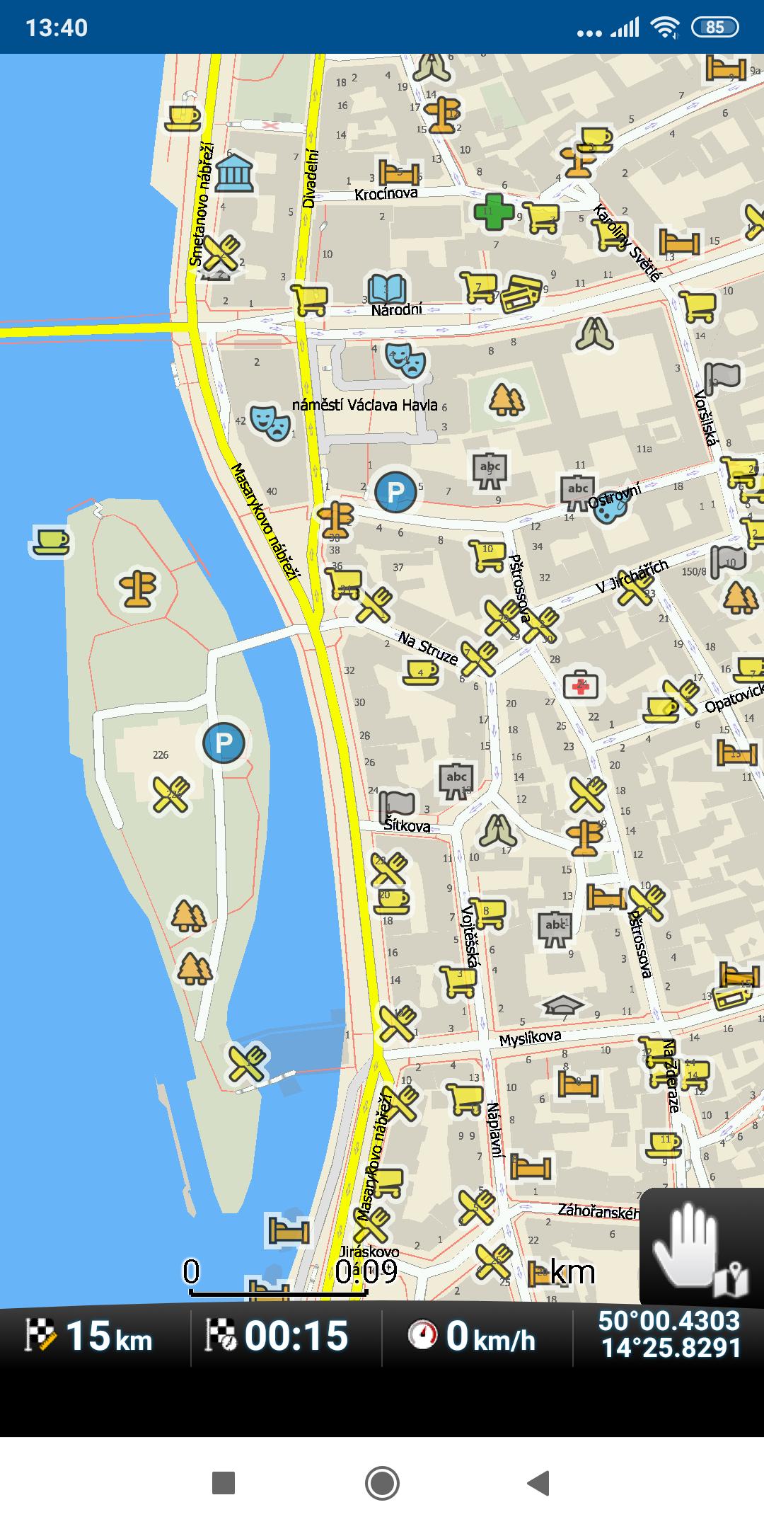 mapFactor Navigator 5.0 - obrysové POI ikony