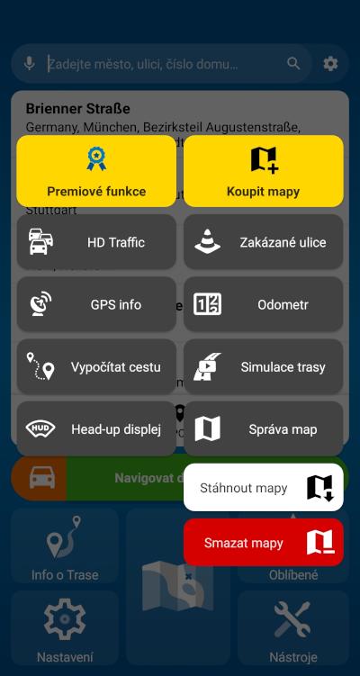 MapFactor Navigator 6 - Nástroje se správou map