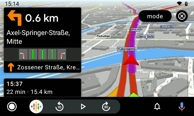 MapFactor 7 for Android Auto - navigation Berlin