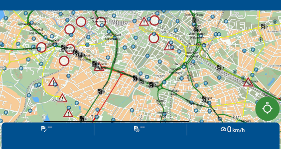 mapfactor Navigator - map with Live HD traffic info