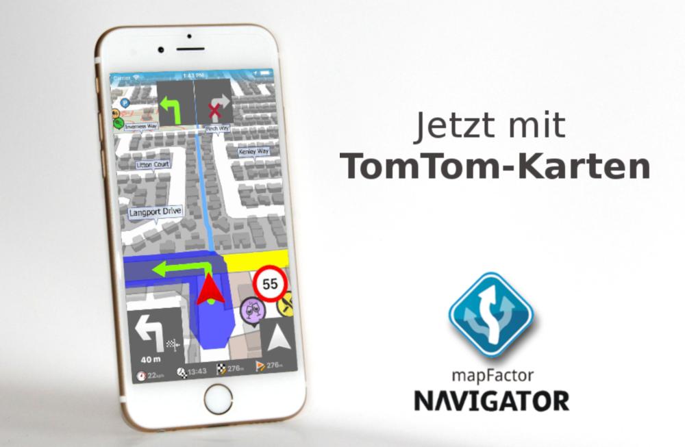 mapfactor Navigator 1.1 iOS promo DE