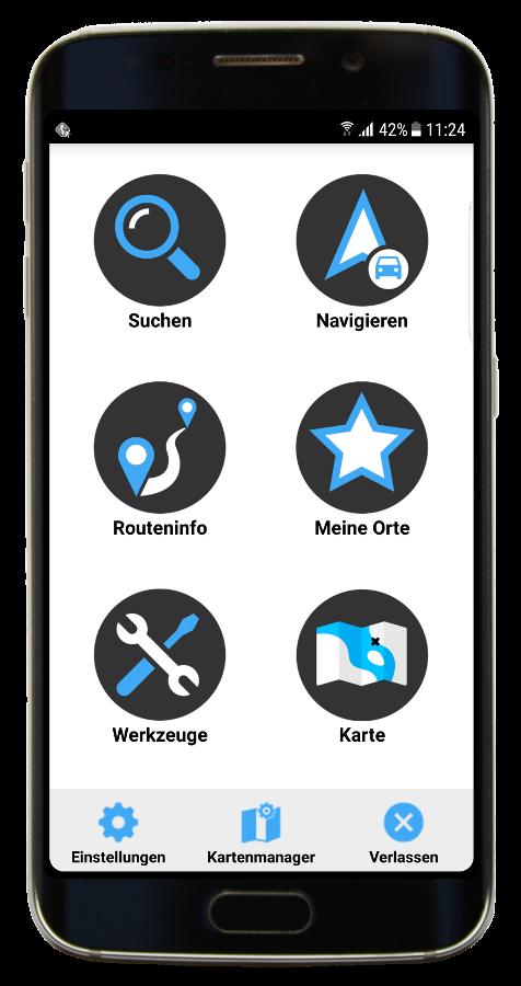 Neues Menu in Navigator 3.1 für Android