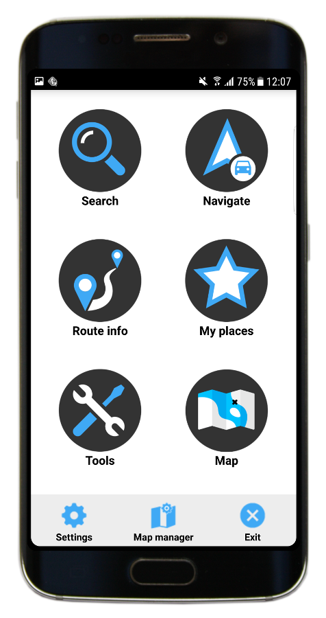 New menu in Navigator 3.1 for Android