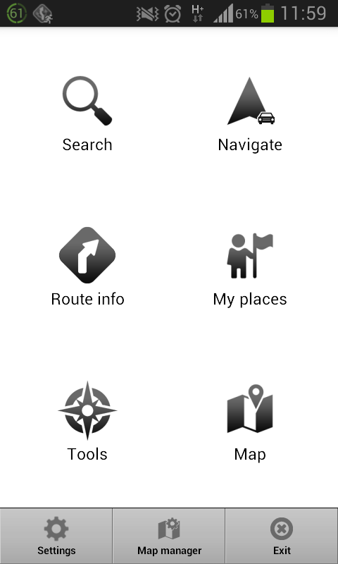 Navigator Menu
