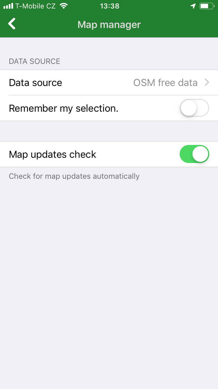 Navigator Free 2.0 iOS - Map manager