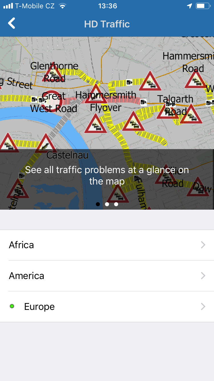 Navigator 2.0 for iOS - HD traffic on the map