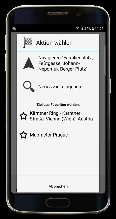 Navigieren - der neue Dialog (Navigator 3.1)