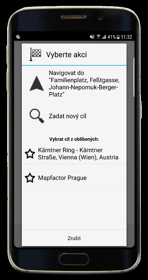Navigator 3.1 - Naviguj - nový dialog