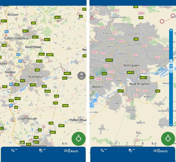 MapFactor Navigator 6 - Úprava zvětšení mapy