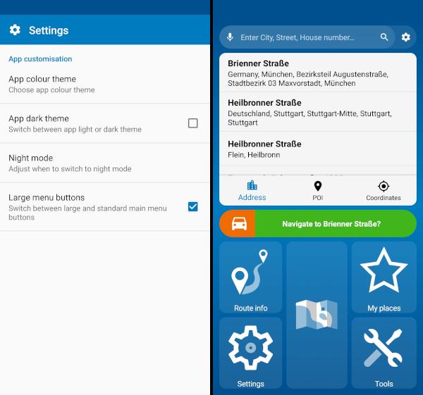 mapfactor navigator 6 - large menu buttons