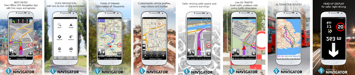 Products - MapFactor GPS Navigator for Android | mapFactor