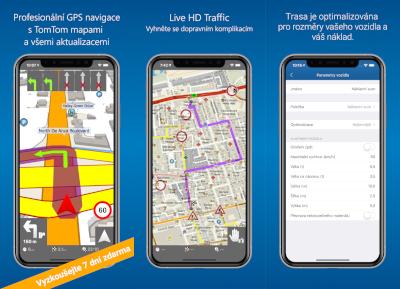 MapFactor Navigator Pro (iOS) - screenshoty 1-3