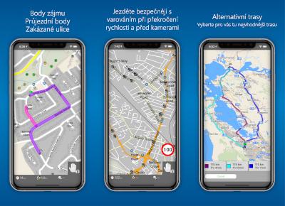 MapFactor Navigator Pro (iOS) - screenshoty 4-6