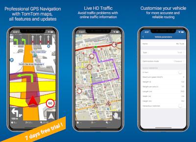 MapFactor Navigator Pro (iOS) - screenshots 1-3