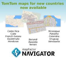 New TomTom maps w225 EN