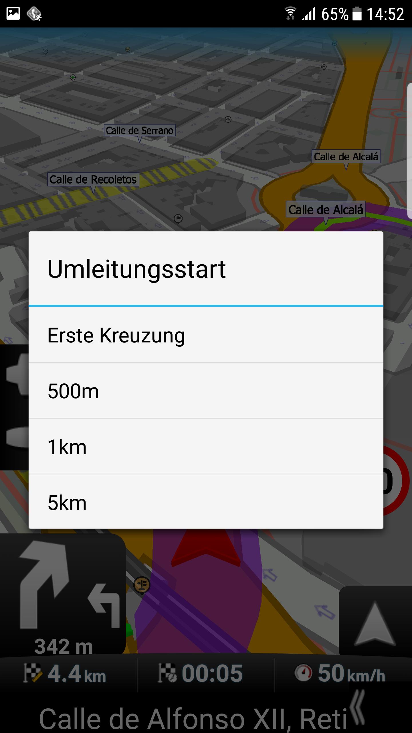 mapFactor Navigator 3.1 - Umleitung