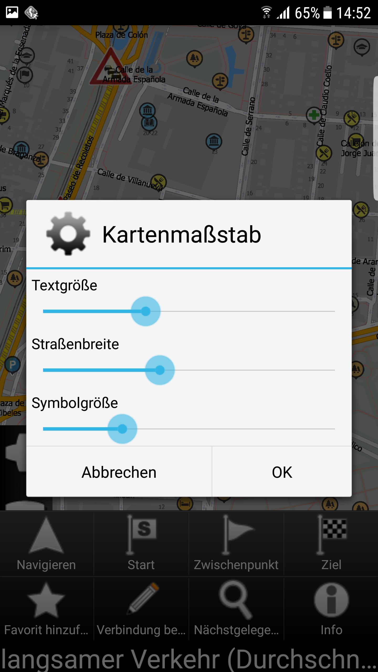 mapFactor Navigator 3.1 - Kartenmassstab