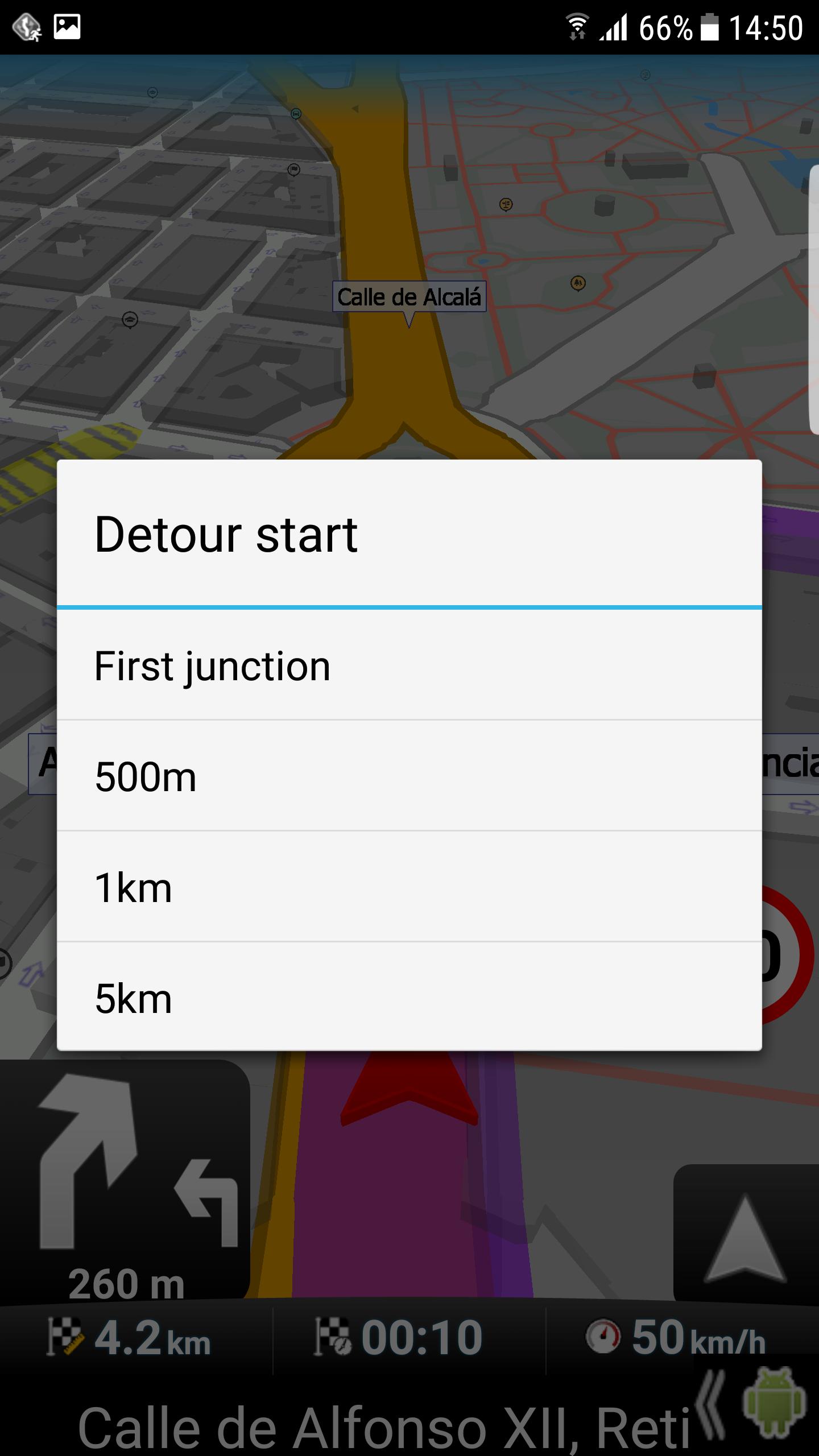 mapFactor Navigator 3.1 - Detour