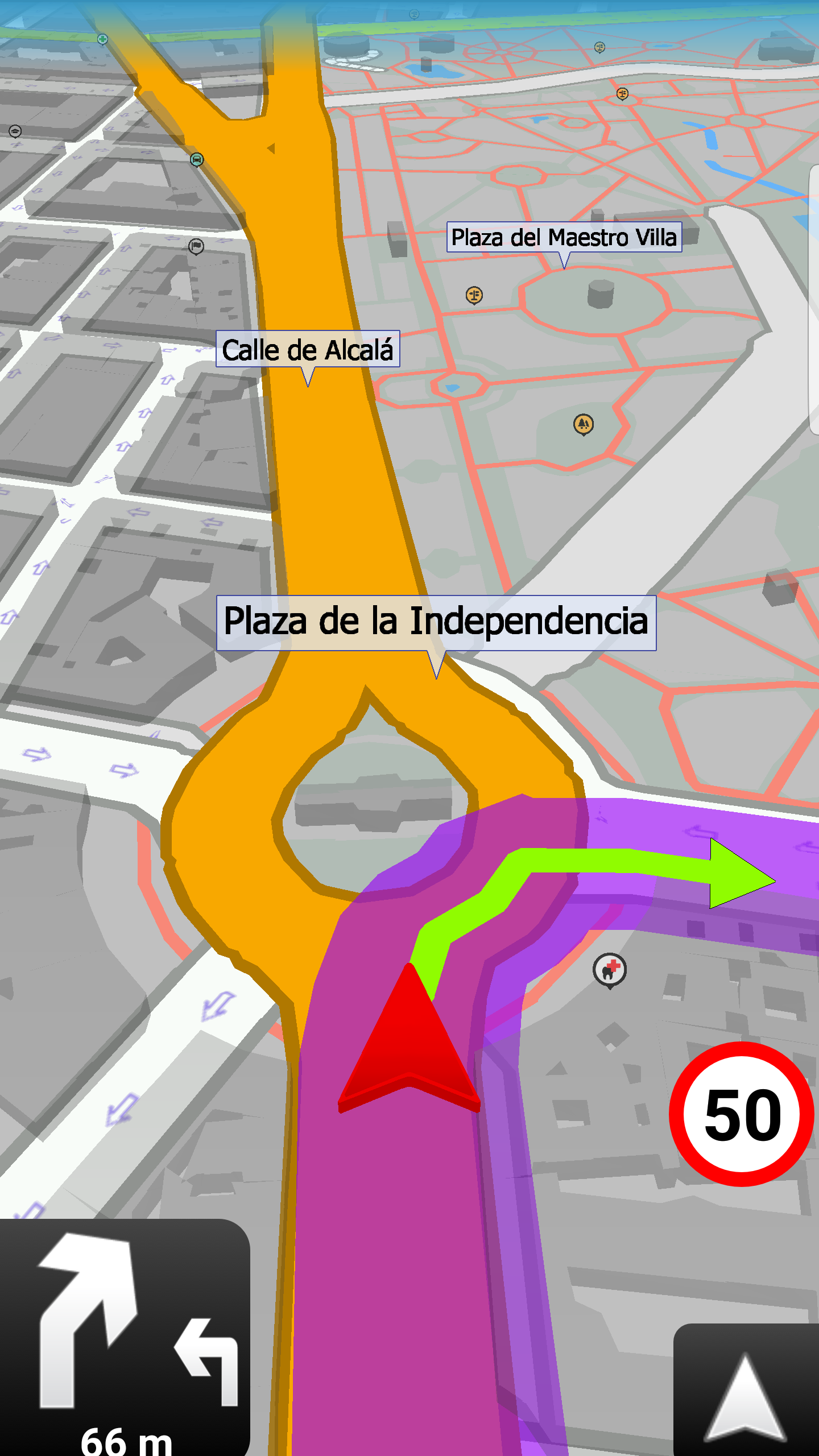 mapFactor Navigator 3.1 - Full screen mode (Navigation)
