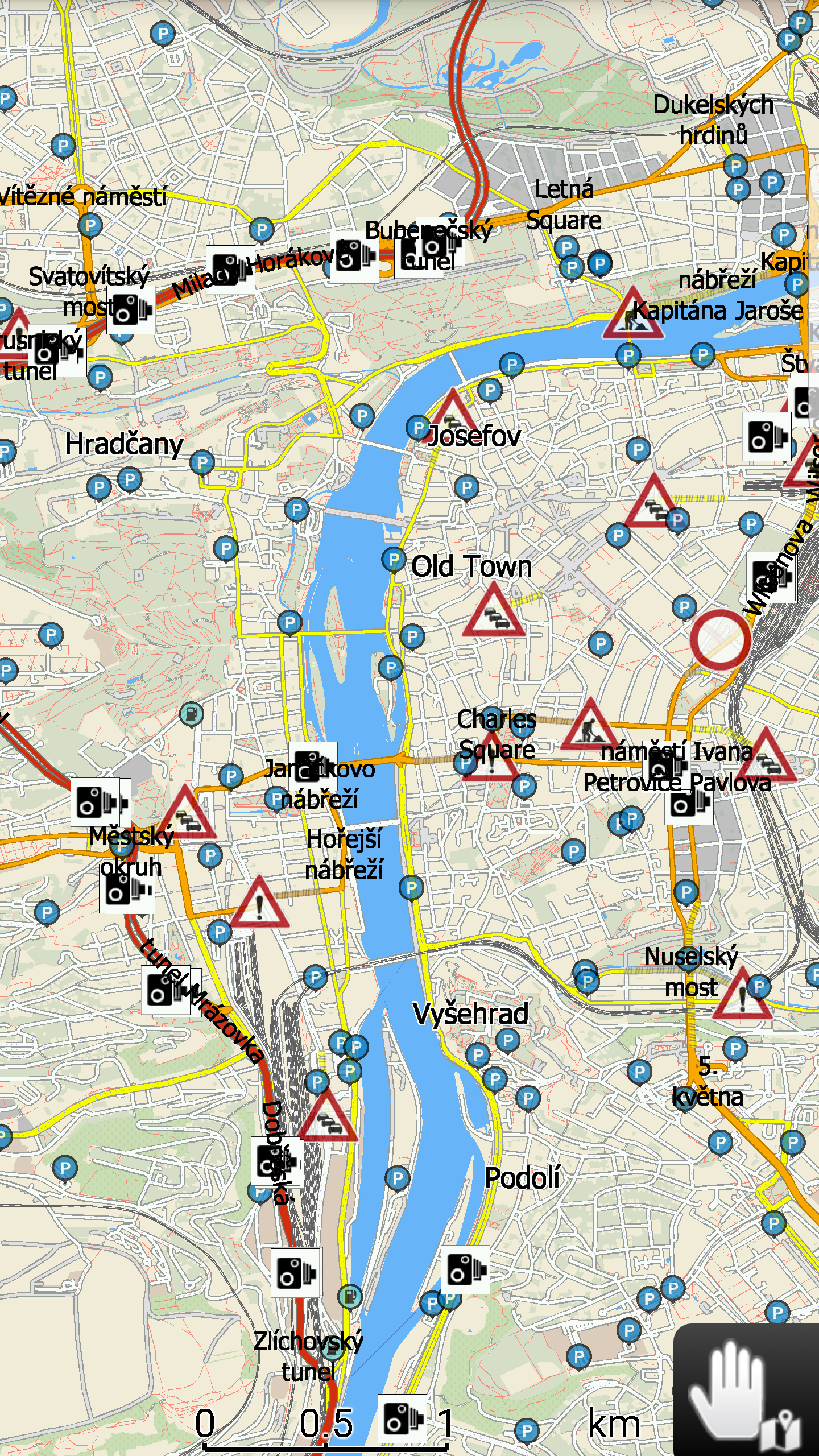 mapFactor Navigator 3.1 - Full screen mode (map)