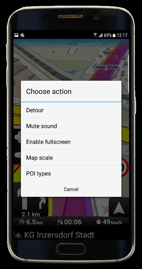 Navigation - Quick actions (Navigator 3.1)