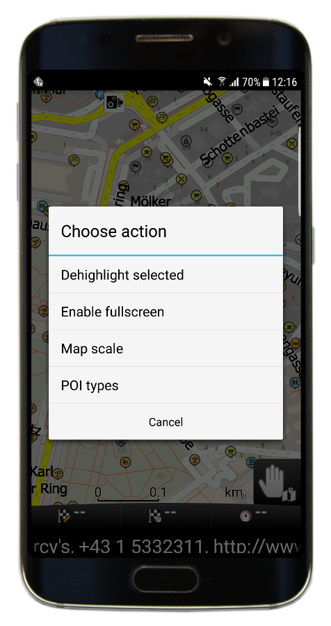 Map - Quick actions (Navigator 3.1)