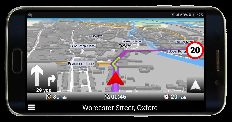 Červená GPS šipka v Navigatoru 2.2