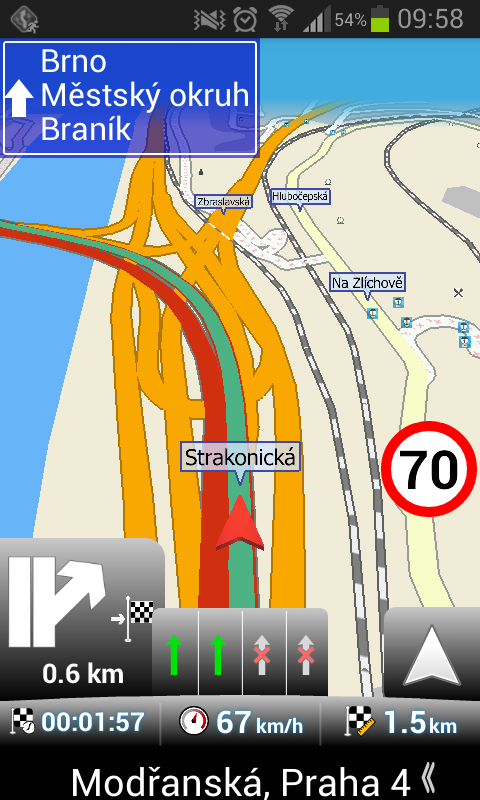 MapFactor Navigation Screenshot Mapy