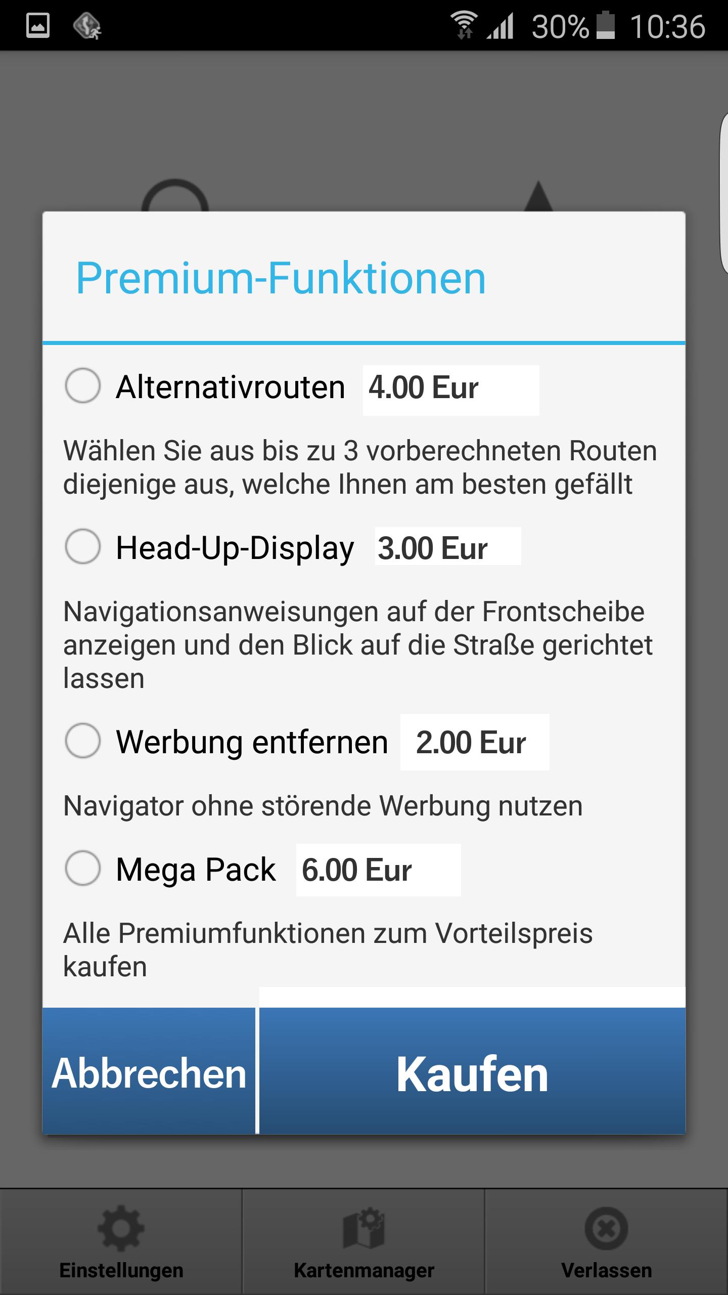 MapFactor Navigator 2.1 – Premium-Funktionen