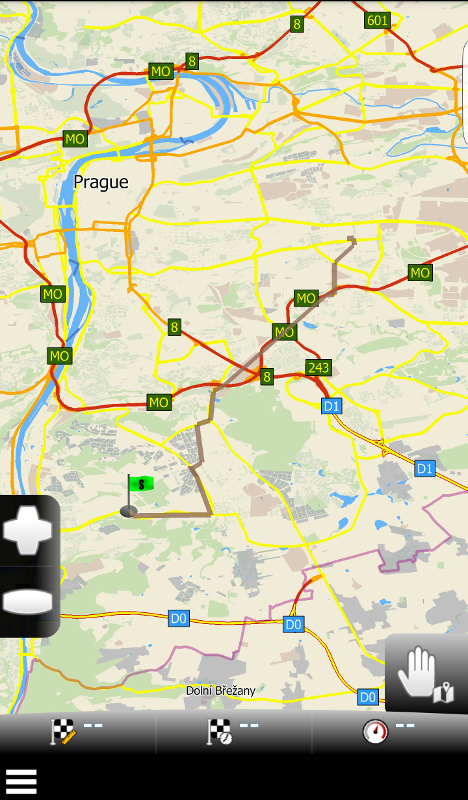 MapFactor Navigator 2.1 – GPX track on map