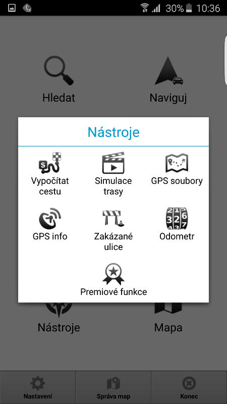 MapFactor Navigator 2.1 – Nástroje