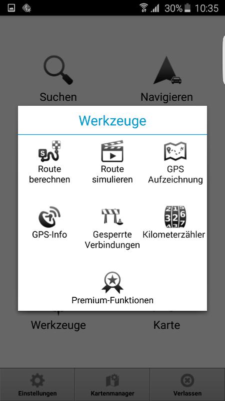 MapFactor Navigator 2.1 – Werkzeuge